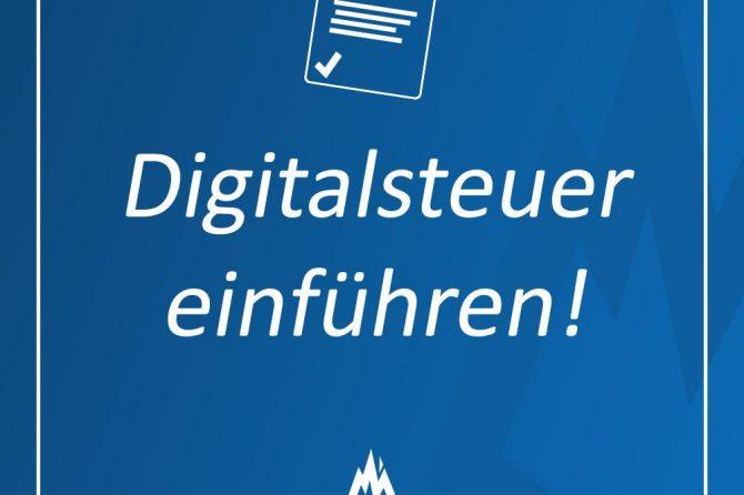 Besteuerung an Digitalzeitalter anpassen: Einführung einer Digitalsteuer