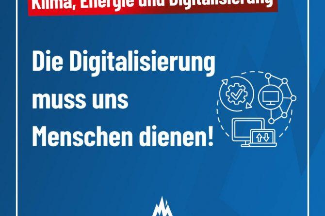 Digitalisierung muss uns Menschen dienen